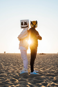 640x1136 Marshmello And Evan Fong