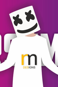 640x1136 Marshmello Vector Art 10k