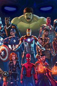 750x1334 Marvel Cinematic Universe Artwork5k