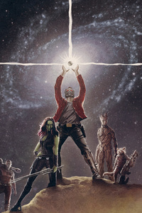 480x800 Marvel Guardians Of The Galaxy Artwork