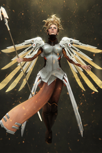 240x400 Mercy Overwatch Art Hd