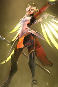 Mercy Overwatch Fanart 5k