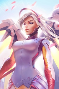 Mercy Overwatch HD Artwork