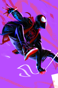1080x2280 Miles Morales In Spider Man Into The Spider Verse 4k Artwork