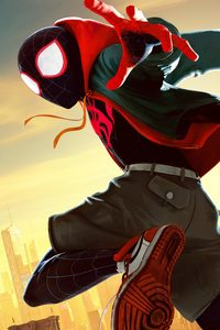 360x640 Miles Morales In Spider Man Into The Spider Verse Movie 5k