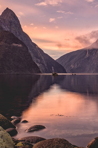750x1334 Milford Sound Sunset New Zealand