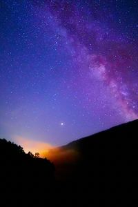750x1334 Milkyway Over Mountains 5k