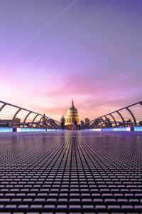 320x480 Millennium Bridge London 5k