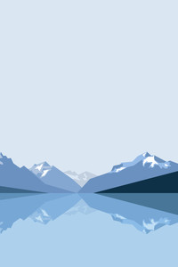 240x320 Minimalist Blue Mountains 8k