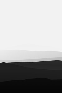 240x400 Minimalist Mountains Black And White