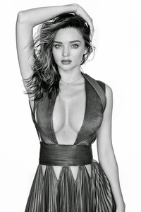 1080x1920 Miranda Kerr Black And White