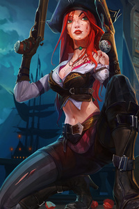720x1280 Miss Fortune League Of Legends 8k