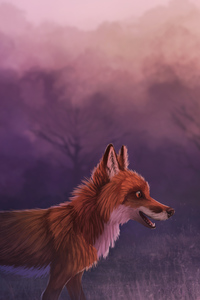 480x800 Misty Red Fox 4k