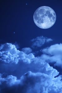 480x800 Moon Night Sky Clouds 5k