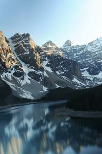 640x960 Moraine Lake Canada Reflections 5k