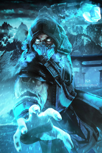 240x400 Mortal Kombat Sub Zero Fan Art