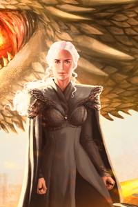 800x1280 Mother Of Dragons Fanart