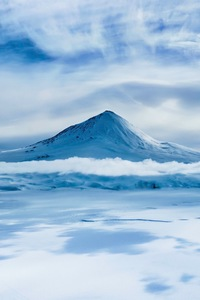 1080x1920 Mount Erebus on Antarctica