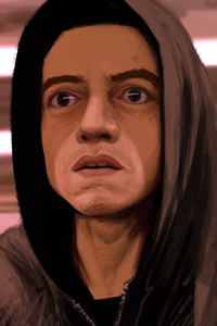 320x568 Mr Robot Digital Art 8k