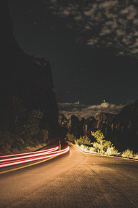 540x960 Nature Road Long Exposure 5k