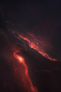 750x1334 Nebula Space Scenery 4k