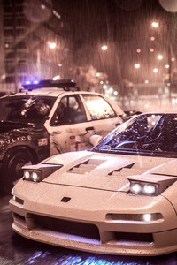 1080x1920 Need For Speed Acura Nsx Vs Police Car 4k