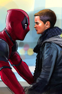 1125x2436 Negasonic Teenage Warhead And Deadpool