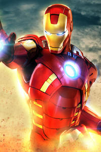 320x480 New Art Iron Man