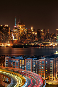 320x568 New York City View From New Jersey 4k At Night