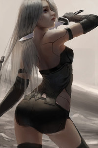 480x800 Nier Automata Fan Art