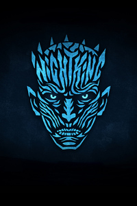 480x854 Night King Minimalist Logo 4k