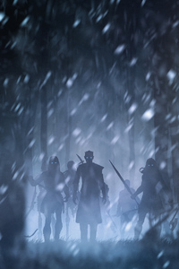 540x960 Night King With White Walkers Artwork