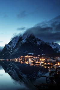 640x1136 Norway Lofoten Mountains Evening Coast 5k