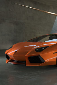 480x800 Orange Lamborghini 5k