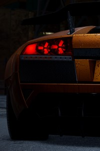 Orange Lamborghini Need For Speed Rear