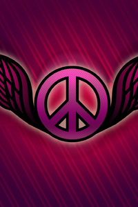 240x400 Peace Logo Abstract