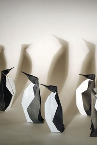 1280x2120 Penguins Origami
