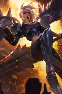 480x800 Pentakill Kayle Artwork League Of Legends
