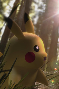 1280x2120 Pikachu In Forest