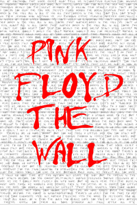 Pink Floyd The Wall Typography 4k