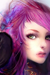 Pink Hair Anime Girl Artwork