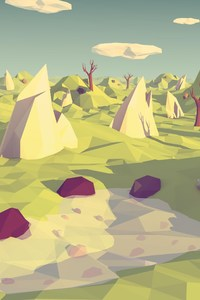 Polygon Landscape Art