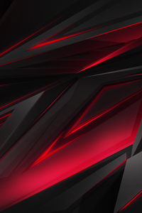 360x640 Polygonal Abstract Red Dark Background