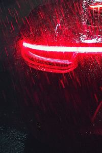 Porsche 911 Carrera Tail Light Raining