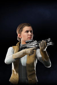 320x480 Princess Leia Star Wars Battlefront II 2017