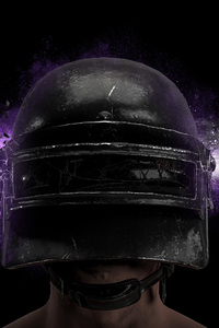 720x1280 PUBG Game Helmet Guy 4k