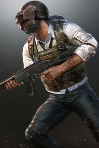 720x1280 PUBG Helmet Guy