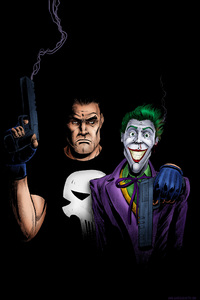 480x854 Punisher And Joker Artwork 4k