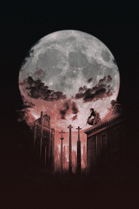 480x800 Punisher Halloween Art 4k