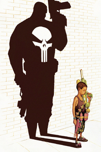 Punisher Little Kid Art
